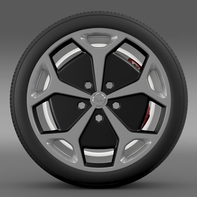 opel ampera wheel 3d model 3ds max fbx c4d lwo ma mb hrc xsi obj 211086