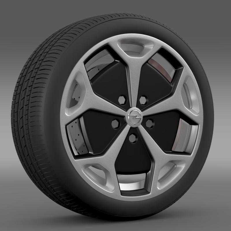 opel ampera wheel 3d model 3ds max fbx c4d lwo ma mb hrc xsi obj 211087