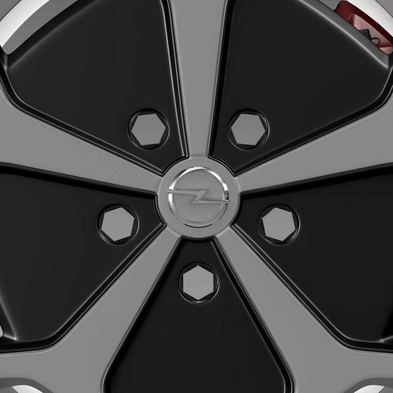 opel ampera wheel 3d model 3ds max fbx c4d lwo ma mb hrc xsi obj 211089