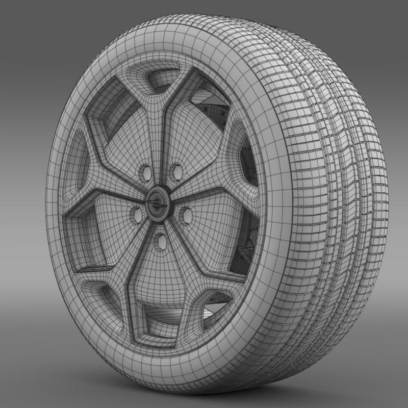 opel ampera wheel 3d model 3ds max fbx c4d lwo ma mb hrc xsi obj 211091