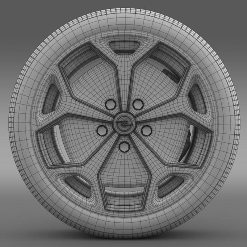 opel ampera wheel 3d model 3ds max fbx c4d lwo ma mb hrc xsi obj 211092