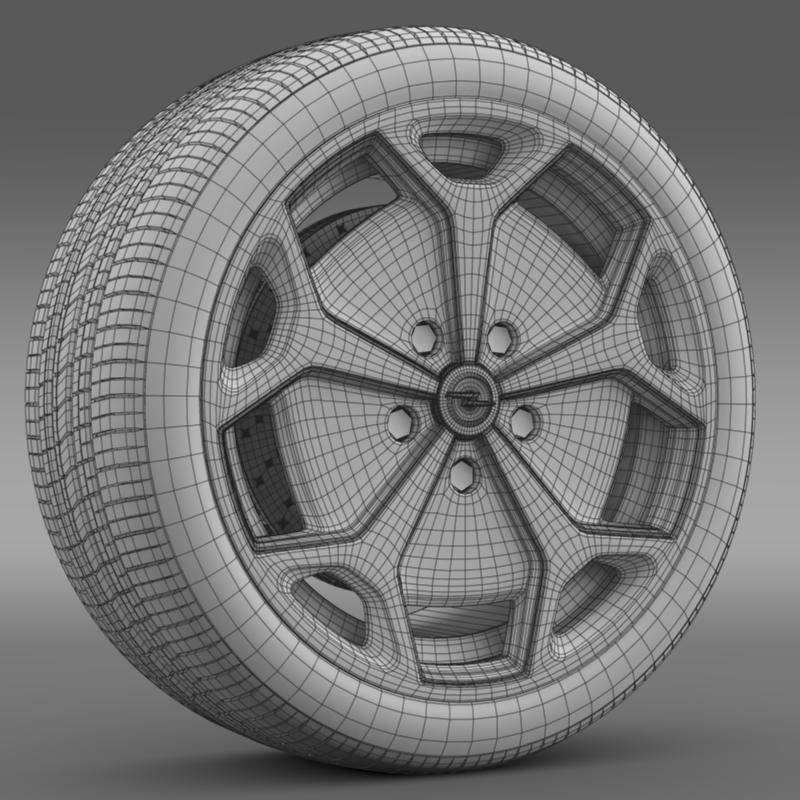 opel ampera wheel 3d model 3ds max fbx c4d lwo ma mb hrc xsi obj 211093