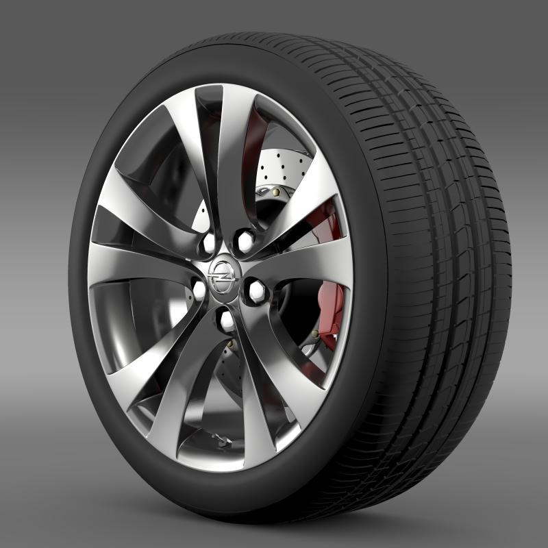 opel insignia wheel 3d model 3ds max fbx c4d lwo ma mb hrc xsi obj 211101