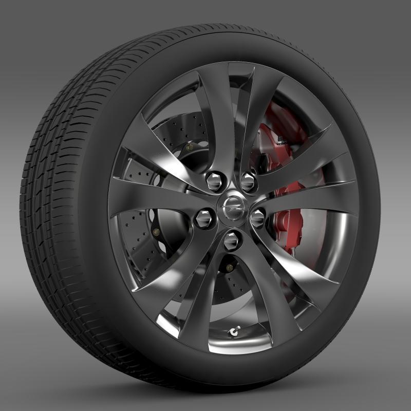 opel insignia wheel 3d model 3ds max fbx c4d lwo ma mb hrc xsi obj 211103