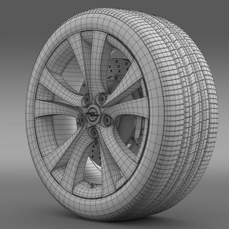 opel insignia wheel 3d model 3ds max fbx c4d lwo ma mb hrc xsi obj 211107
