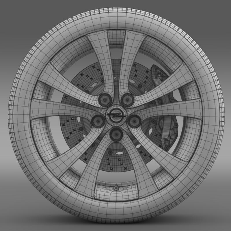 opel insignia wheel 3d model 3ds max fbx c4d lwo ma mb hrc xsi obj 211108