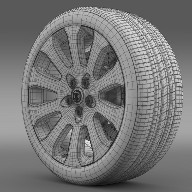 vauxhall insignia wheel 3d model 3ds max fbx c4d lwo ma mb hrc xsi obj 211123