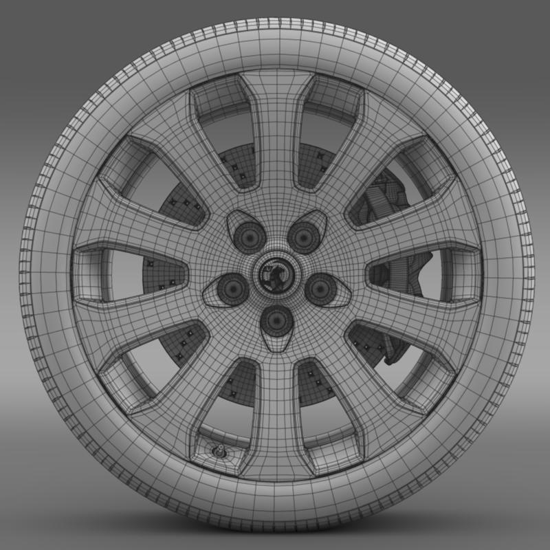 vauxhall insignia wheel 3d model 3ds max fbx c4d lwo ma mb hrc xsi obj 211124
