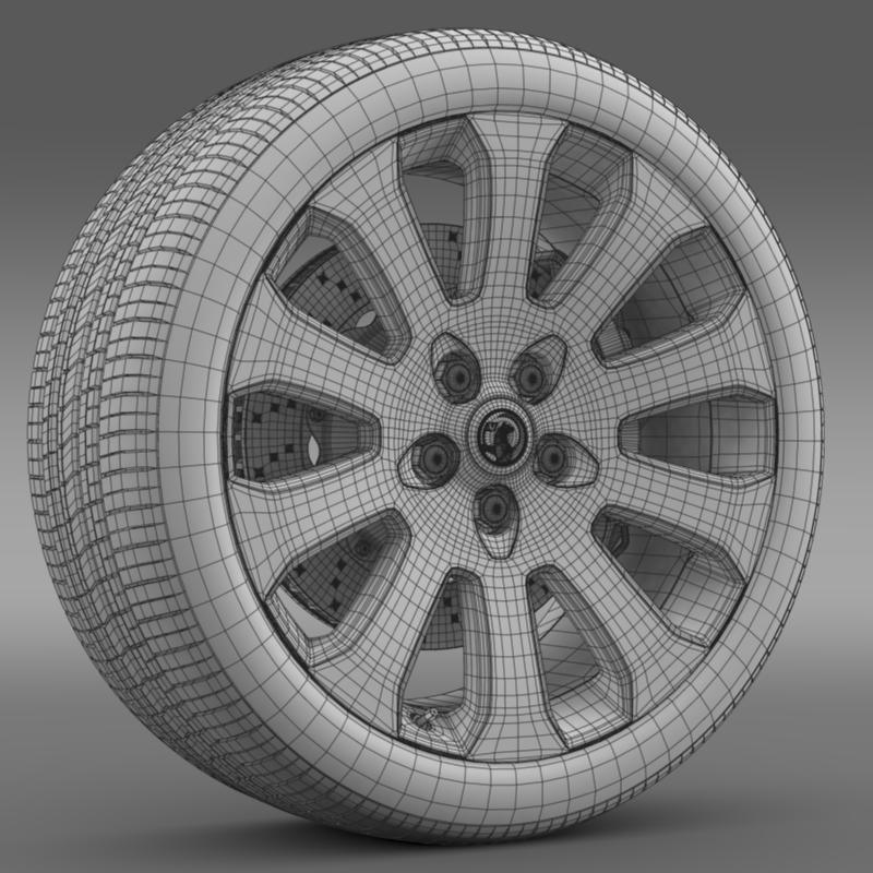vauxhall insignia wheel 3d model 3ds max fbx c4d lwo ma mb hrc xsi obj 211125