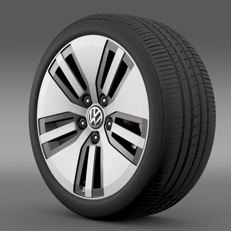 volkswagen e golf wheel 3d model 3ds max fbx c4d lwo ma mb hrc xsi obj 211133
