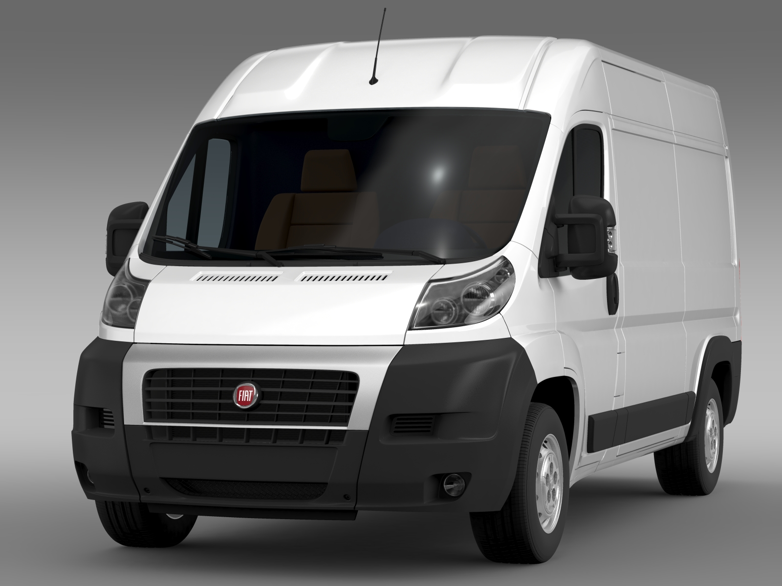 fiat ducato van l2h2 2006 2014 3d model buy fiat ducato. Black Bedroom Furniture Sets. Home Design Ideas