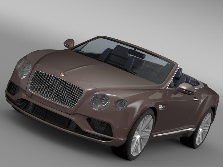 bentley continental gt v8 convertible 2015 3d model 3ds max fbx c4d lwo ma mb hrc xsi obj 211182