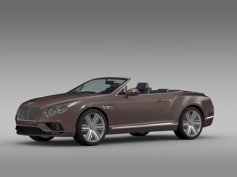 bentley continental gt v8 convertible 2015 3d model 3ds max fbx c4d lwo ma mb hrc xsi obj 211186