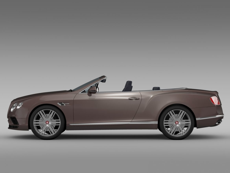 bentley continental gt v8 convertible 2015 3d model 3ds max fbx c4d lwo ma mb hrc xsi obj 211187