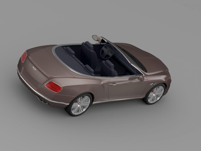 bentley continental gt v8 convertible 2015 3d model 3ds max fbx c4d lwo ma mb hrc xsi obj 211191