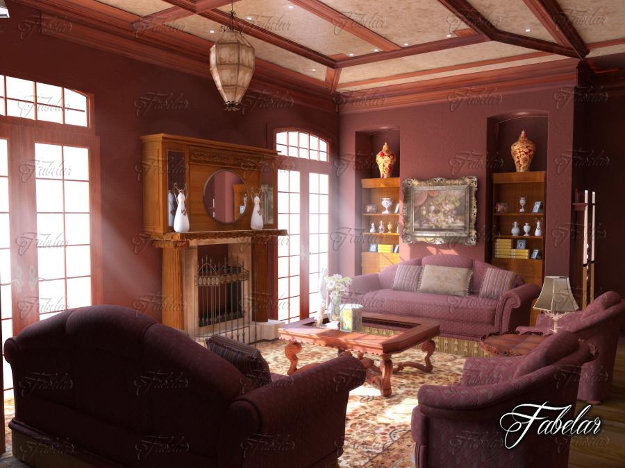 living room 31 two 3d model 3ds max fbx c4d dae wrl wrz obj 211202