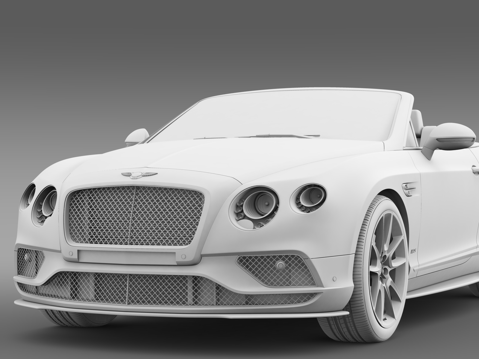 bentley continental gt v8 s convertible 2015 3d model. Black Bedroom Furniture Sets. Home Design Ideas