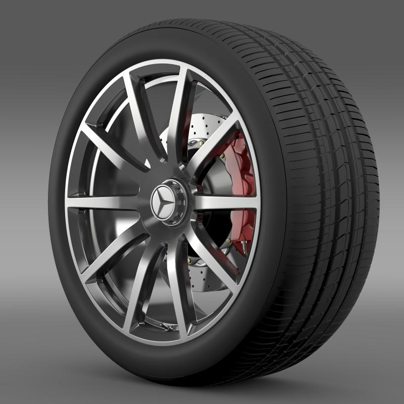 amg mercedes benz s 63 wheel 3d model 3ds max fbx c4d lwo ma mb hrc xsi obj 211230