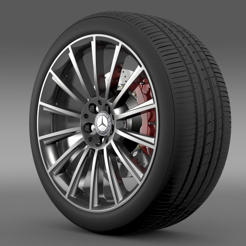 amg mercedes benz s 350 wheel 3d model 3ds fbx c4d lwo ma mb hrc xsi obj 211246