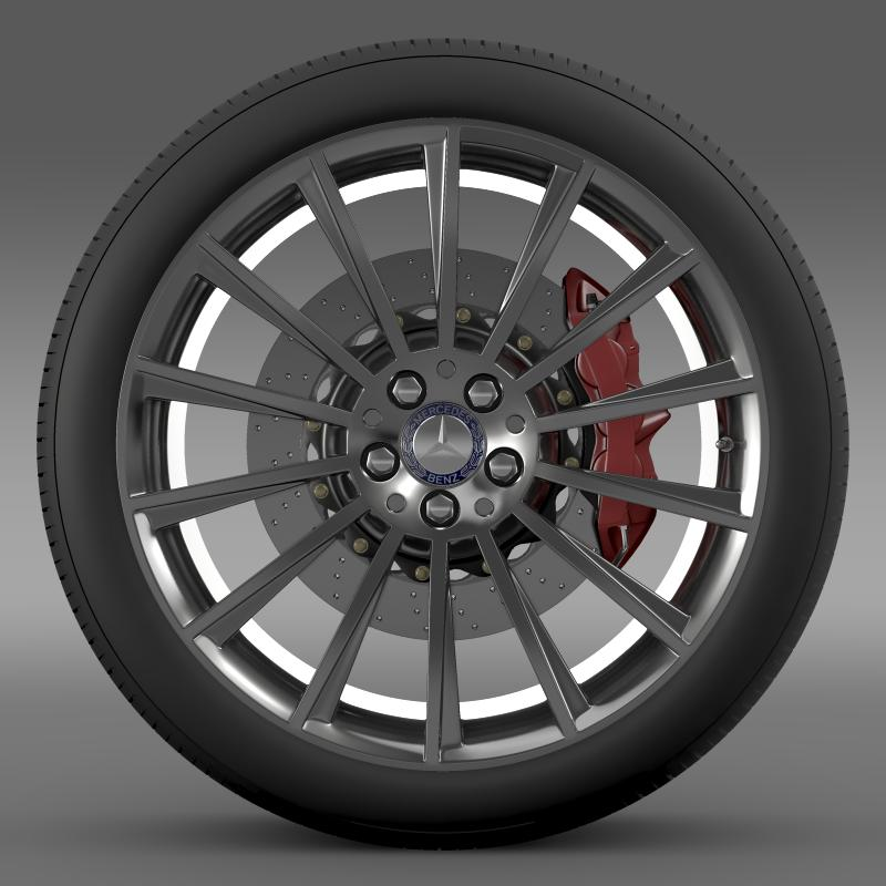 amg mercedes benz s 350 wheel 3d model 3ds fbx c4d lwo ma mb hrc xsi obj 211247