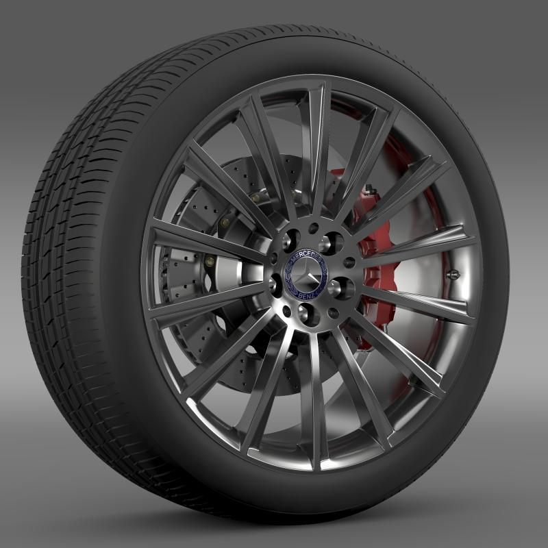 amg mercedes benz s 350 wheel 3d model 3ds fbx c4d lwo ma mb hrc xsi obj 211248