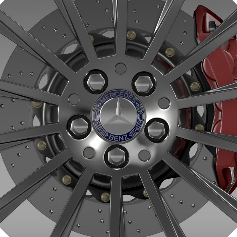 amg mercedes benz s 350 wheel 3d model 3ds fbx c4d lwo ma mb hrc xsi obj 211250