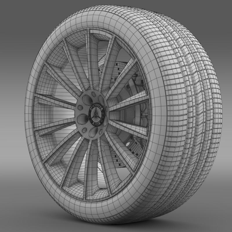 amg mercedes benz s 350 wheel 3d model 3ds fbx c4d lwo ma mb hrc xsi obj 211252