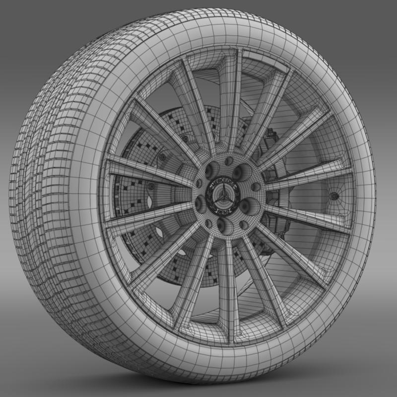 amg mercedes benz s 350 wheel 3d model 3ds fbx c4d lwo ma mb hrc xsi obj 211254