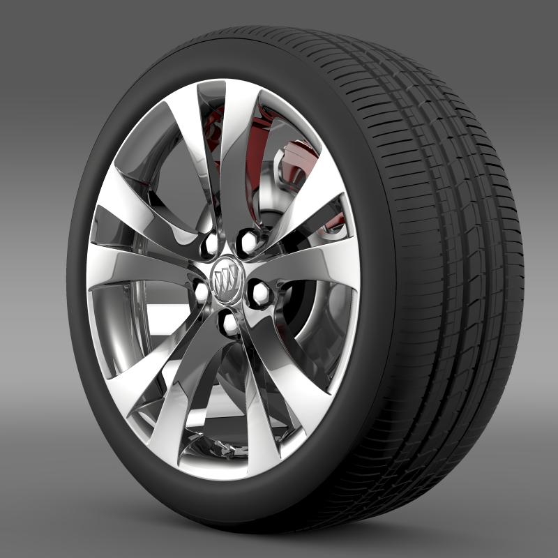 buick regal wheel 3d model 3ds max fbx c4d lwo ma mb hrc xsi obj 211262