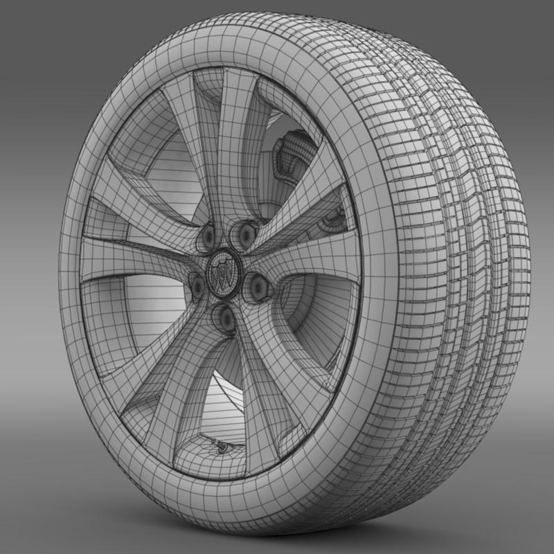 buick regal wheel 3d model 3ds max fbx c4d lwo ma mb hrc xsi obj 211268