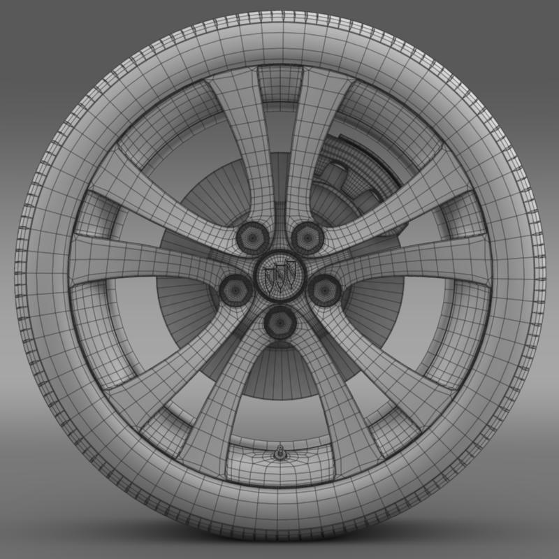 buick regal wheel 3d model 3ds max fbx c4d lwo ma mb hrc xsi obj 211269