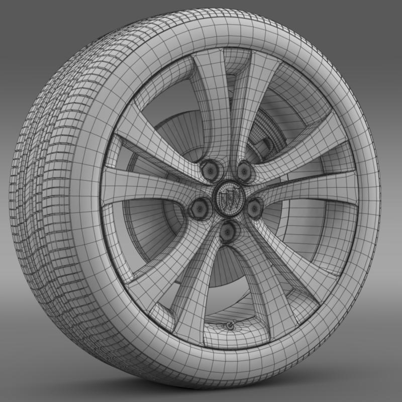 buick regal wheel 3d model 3ds max fbx c4d lwo ma mb hrc xsi obj 211270