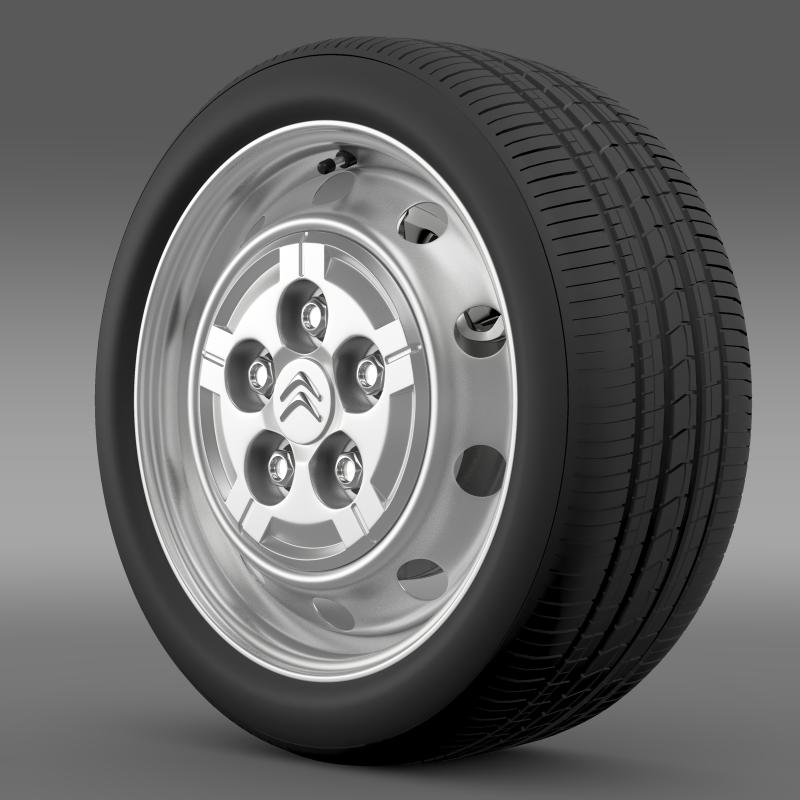 citroen jumper van wheel 3d model 3ds max fbx c4d lwo ma mb hrc xsi obj 211277