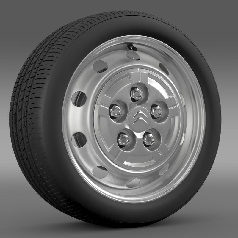 citroen jumper van wheel 3d model 3ds max fbx c4d lwo ma mb hrc xsi obj 211279