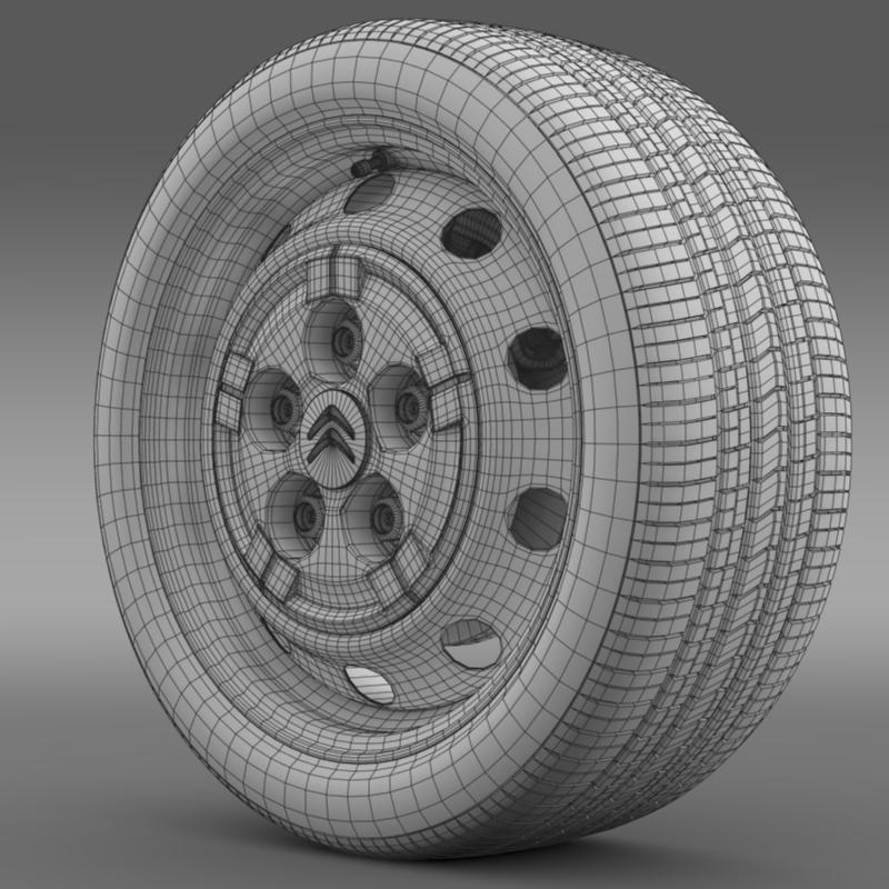 citroen jumper van wheel 3d model 3ds max fbx c4d lwo ma mb hrc xsi obj 211283