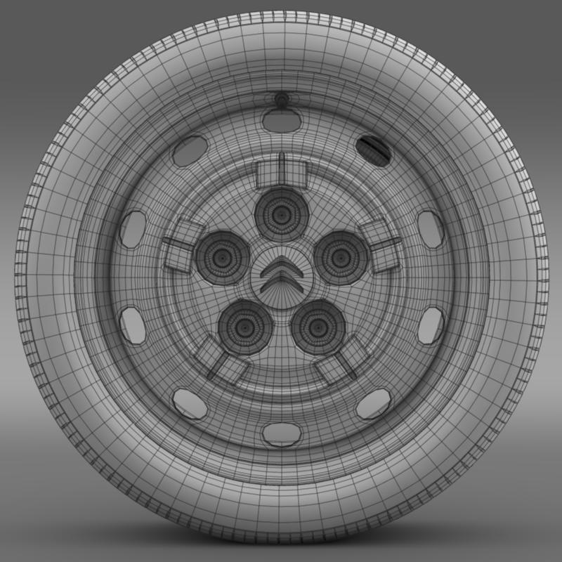 citroen jumper van wheel 3d model 3ds max fbx c4d lwo ma mb hrc xsi obj 211284