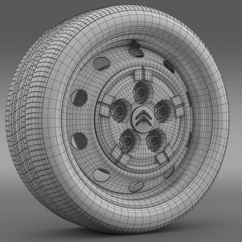 citroen jumper van wheel 3d model 3ds max fbx c4d lwo ma mb hrc xsi obj 211285