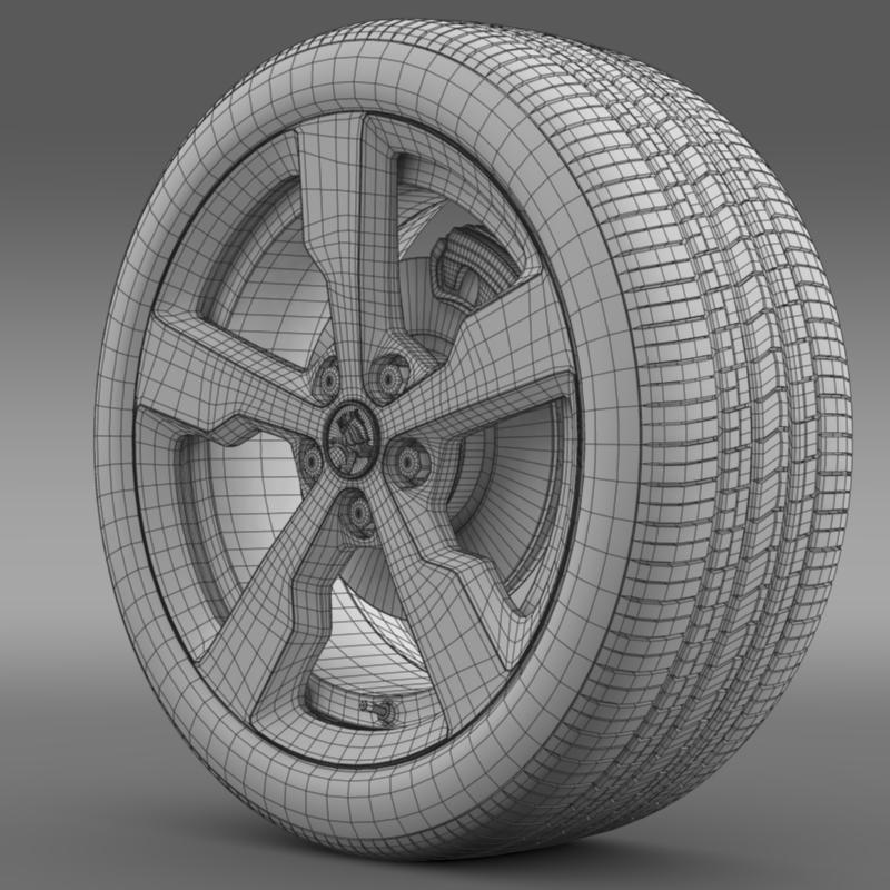 holden volt wheel 3d model 3ds max fbx c4d lwo ma mb hrc xsi obj 211313