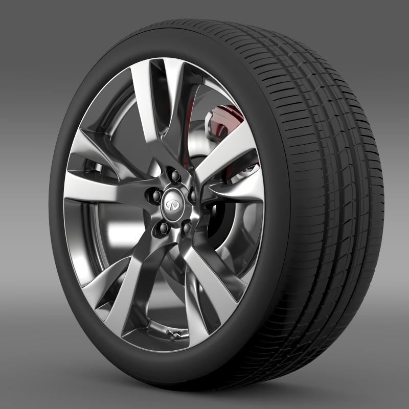 infiniti m wheel 3d model 3ds max fbx c4d lwo ma mb hrc xsi obj 211322