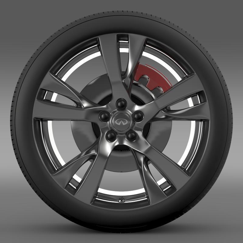 infiniti m wheel 3d model 3ds max fbx c4d lwo ma mb hrc xsi obj 211323