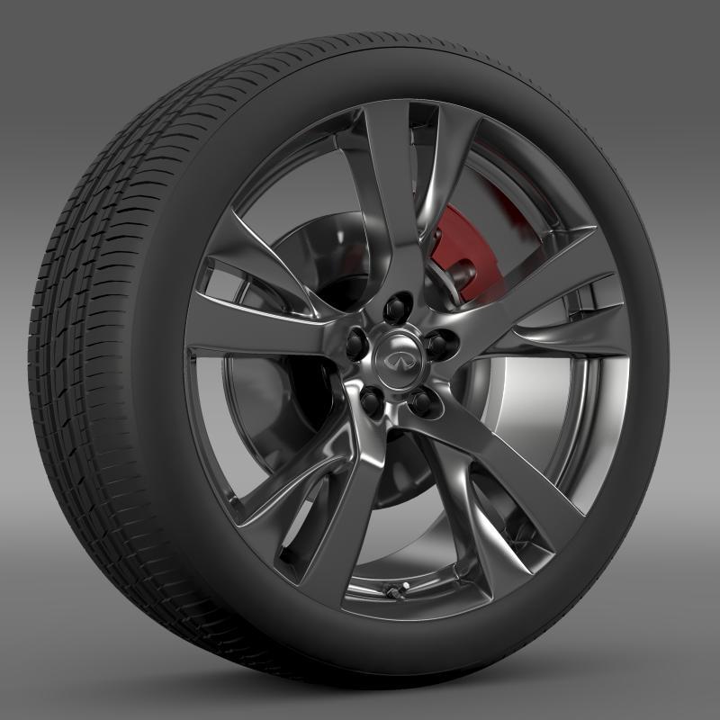 infiniti m wheel 3d model 3ds max fbx c4d lwo ma mb hrc xsi obj 211324