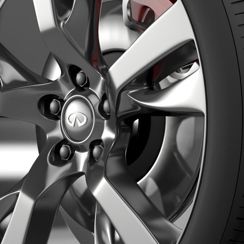 infiniti m wheel 3d model 3ds max fbx c4d lwo ma mb hrc xsi obj 211325