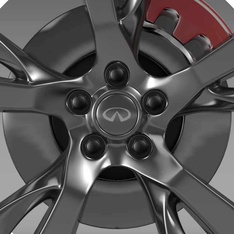 infiniti m wheel 3d model 3ds max fbx c4d lwo ma mb hrc xsi obj 211326