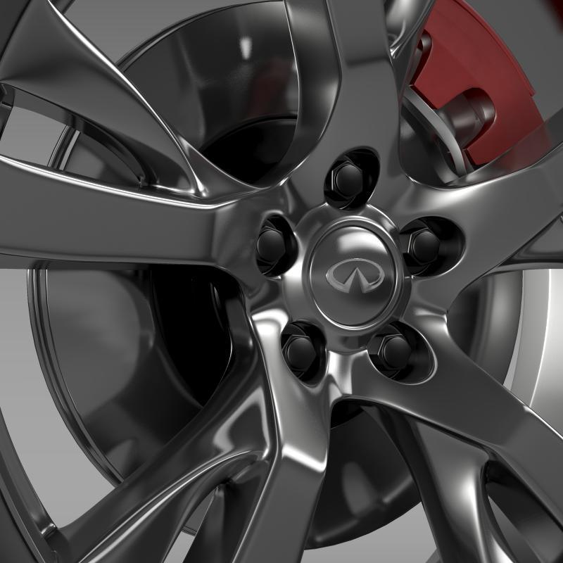 infiniti m wheel 3d model 3ds max fbx c4d lwo ma mb hrc xsi obj 211327