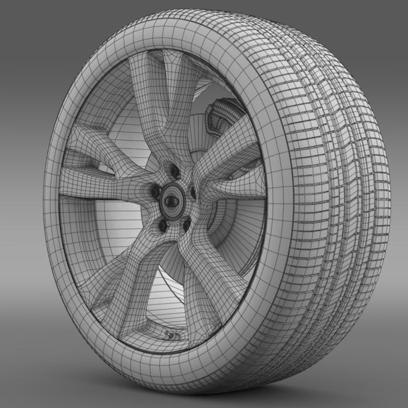 infiniti m wheel 3d model 3ds max fbx c4d lwo ma mb hrc xsi obj 211328