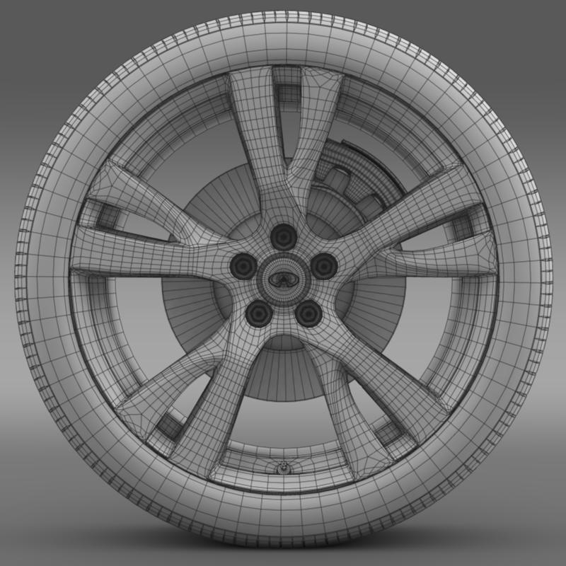 infiniti m wheel 3d model 3ds max fbx c4d lwo ma mb hrc xsi obj 211329