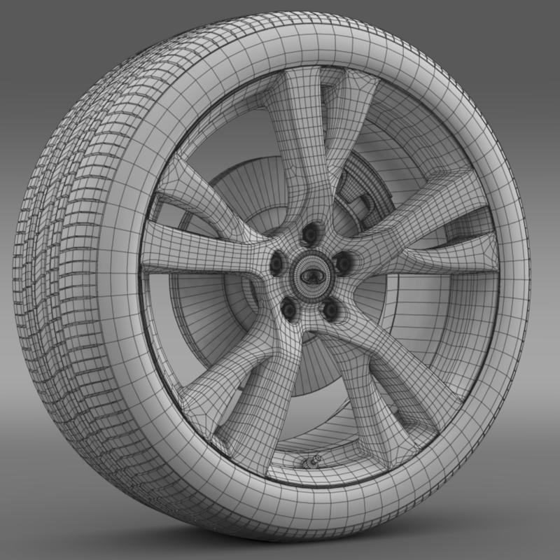infiniti m wheel 3d model 3ds max fbx c4d lwo ma mb hrc xsi obj 211330