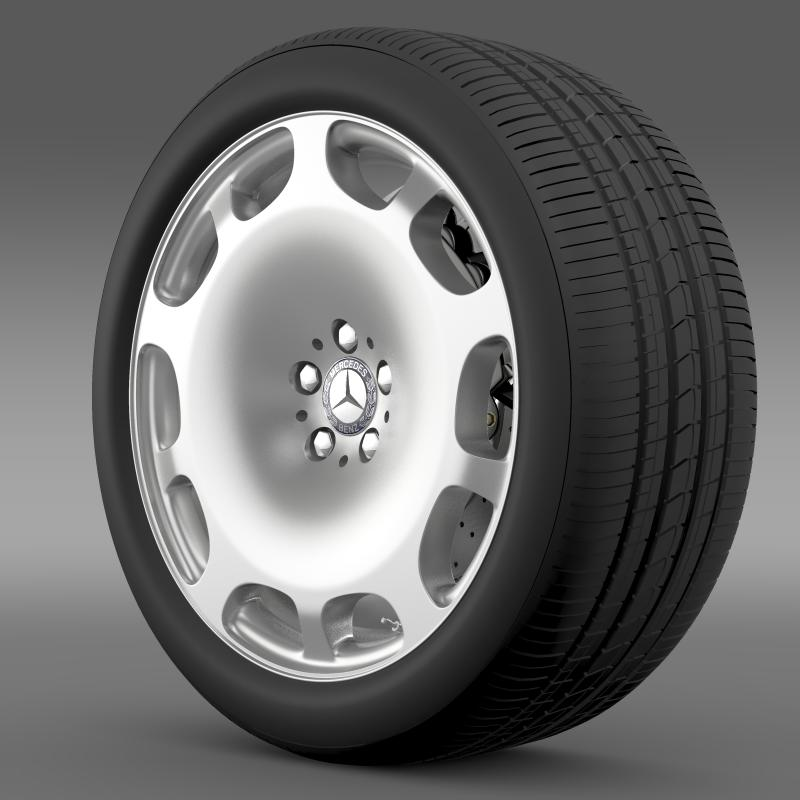 mercedes maybach wheel 3d model 3ds max fbx c4d lwo ma mb hrc xsi obj 211337