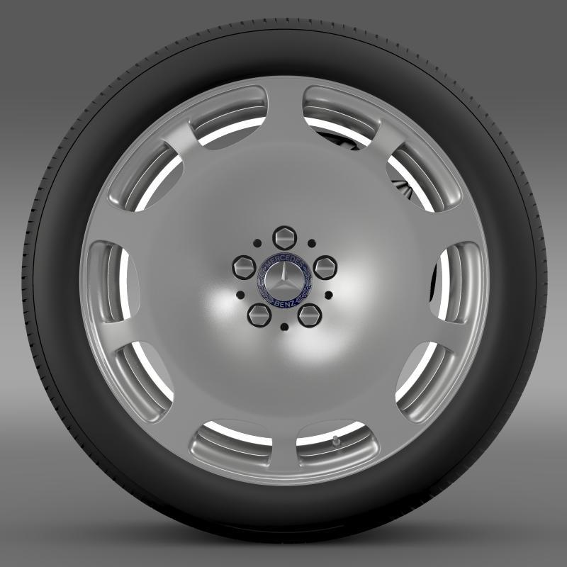 mercedes maybach wheel 3d model 3ds max fbx c4d lwo ma mb hrc xsi obj 211338