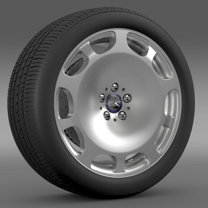mercedes maybach wheel 3d model 3ds max fbx c4d lwo ma mb hrc xsi obj 211339